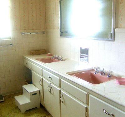 The $500 Mamie Pink Bathroom