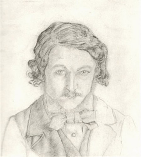 William Morris, self portait. 1856