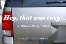 Change a Tail Light Bulb copy