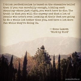 Lamott on Perfectionism