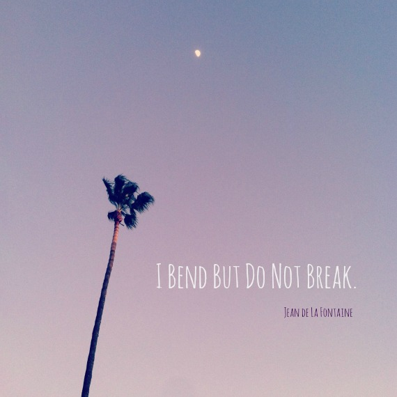 """I bend but do not break."""