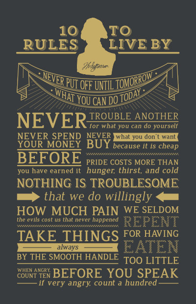Thomas Jefferson's 10 Rules of Conduct   Print by Beautifuseful on Etsy