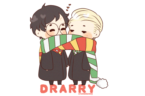drarry___scarf_sharing_by_cremebunny-d6yg5al