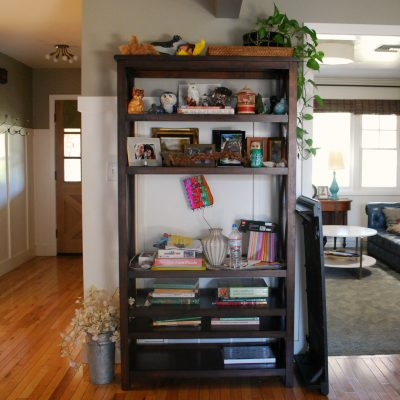 The Bookcase and Some Pictures