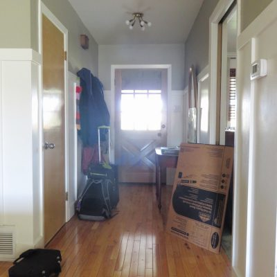 The Entryway and the Family Room